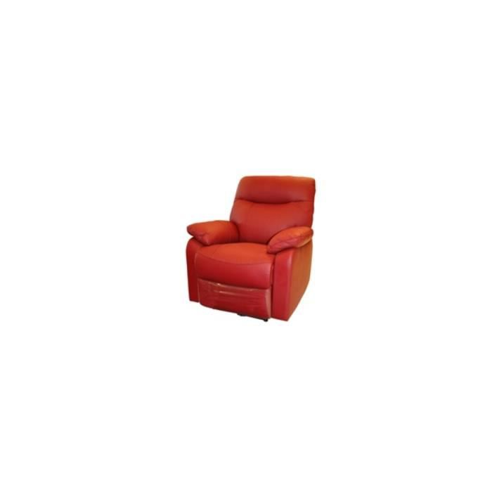 sully fauteuil relax electrique rouge achat vente fauteuil rouge cdiscount. Black Bedroom Furniture Sets. Home Design Ideas