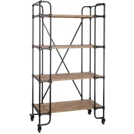 etagere industrielle bois metal industrial shelving for bread antique in metal and wood set of. Black Bedroom Furniture Sets. Home Design Ideas