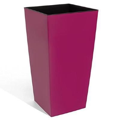 haut pot de fleur en plastique carr de 62 cm de hauteur couleur magenta achat vente. Black Bedroom Furniture Sets. Home Design Ideas