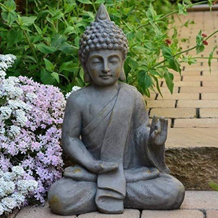 statuette bouddha Décoration jardin 54 cm