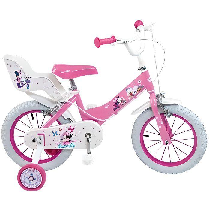 Kids Chidlrens disney princesse coeur guidon vélo plaque rose nouveau