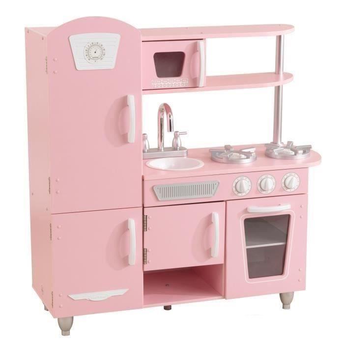 Kidkraft Cuisine Pour Enfant En Bois Rose Vintage 53347 Rose