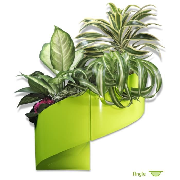 Modul 39 green pot pour plantes mural design int rieur ext rieur 2 modules vert achat for Pot de plante design