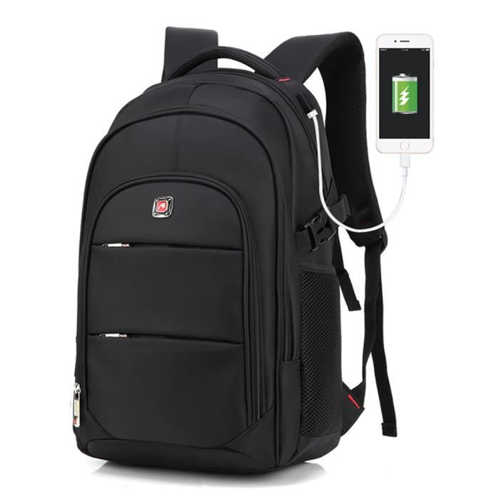"Sac à dos USB Charge Anti-vol Bandoulière Backpack Laptop étanche 17.3/"" Portable"
