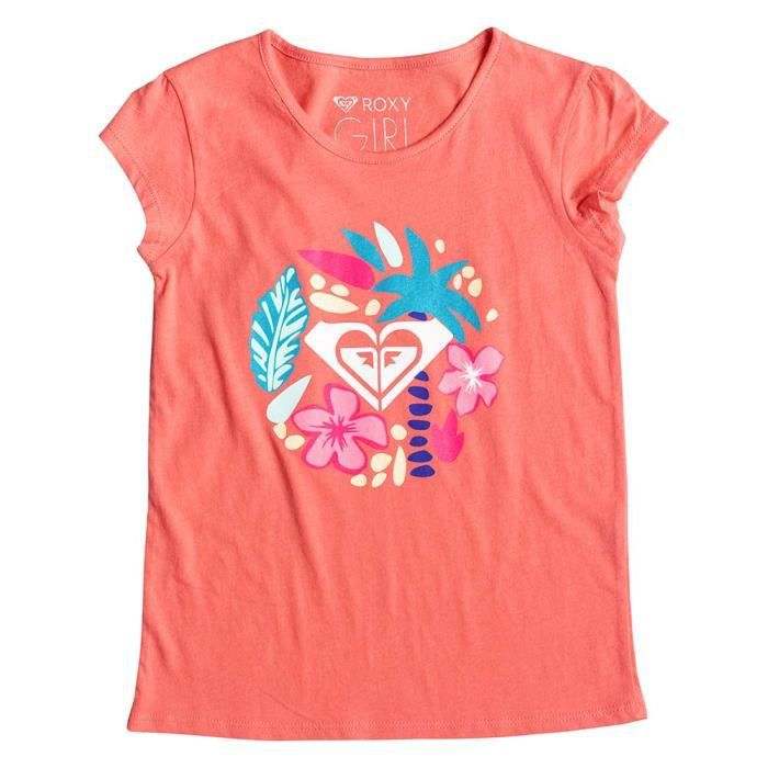 e7001a7bf1a69 Vêtements fille T-shirts Roxy Moid Bow Sand Arrows Rose Rose - Achat ...