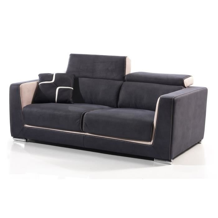 canap fixe 3 places switsofa s ville tissu ble achat vente canap sofa divan cdiscount. Black Bedroom Furniture Sets. Home Design Ideas