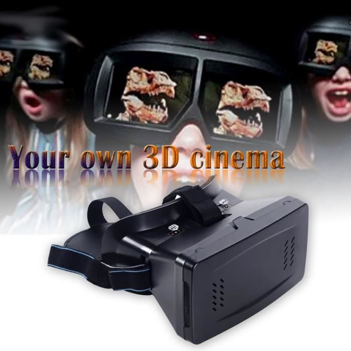 vococal lunettes de r alit virtuelle en 3d films jeux pour 3 5 6 0 pouces smart phone. Black Bedroom Furniture Sets. Home Design Ideas
