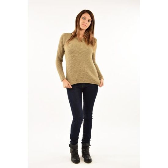 836e3360d3e Pull grosses mailles femme - Cinelle Boutique - Taupe taupe - Achat   Vente  pull 2009818929112 - Cdiscount