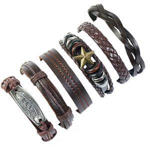BRACELET - GOURMETTE Bracelet Tressé Vintage multicouche mode cadeau bi