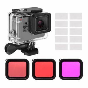 PROTECTION DE FILTRE Kit d'accessoires pour boîtier étanche pour GoPro