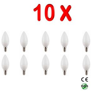 AMPOULE - LED LOT DE 10 AMPOULES LED E14 6W FLAMME