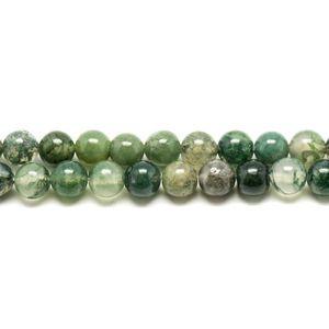 Oeil de Fer Boules 4mm Fil de 39 cm Perles de Pierre