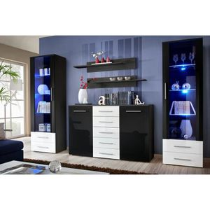 bibliotheque vitree 2 portes achat vente pas cher. Black Bedroom Furniture Sets. Home Design Ideas