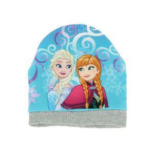 BONNET - CAGOULE Bonnet Frozen imprimé avec Elsa et Anna avec bord