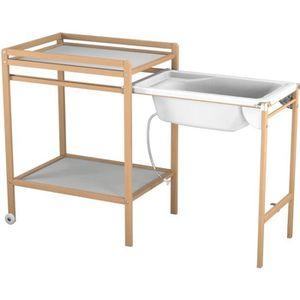 TABLE À LANGER AT4 Table à langer à roulettes avec baignoire - Ve