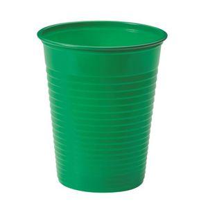 VERRE JETABLE 25 gobelets plastique vert