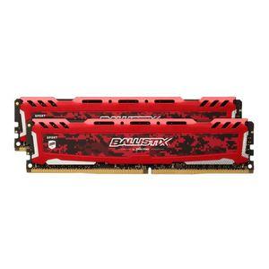 MÉMOIRE RAM Ballistix Sport LT Red 16GB Kit (2 x 8GB) DDR4-266