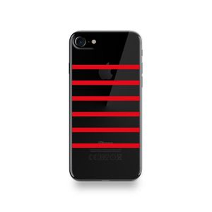 coque apple iphone 7 silicone rouge