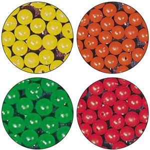 5 mm Lumière Douce Plastique Leurre Perles-Chartreuse//Orange 500 chaque .036 Trous 1,000 Pièces