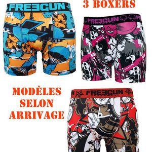 BOXER - SHORTY Freegun - Lot de 3 boxers homme
