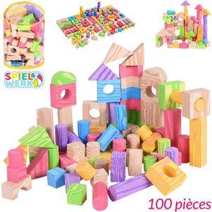ASSEMBLAGE CONSTRUCTION 100x Briques de Construction Enfant Blocs Jeu de C