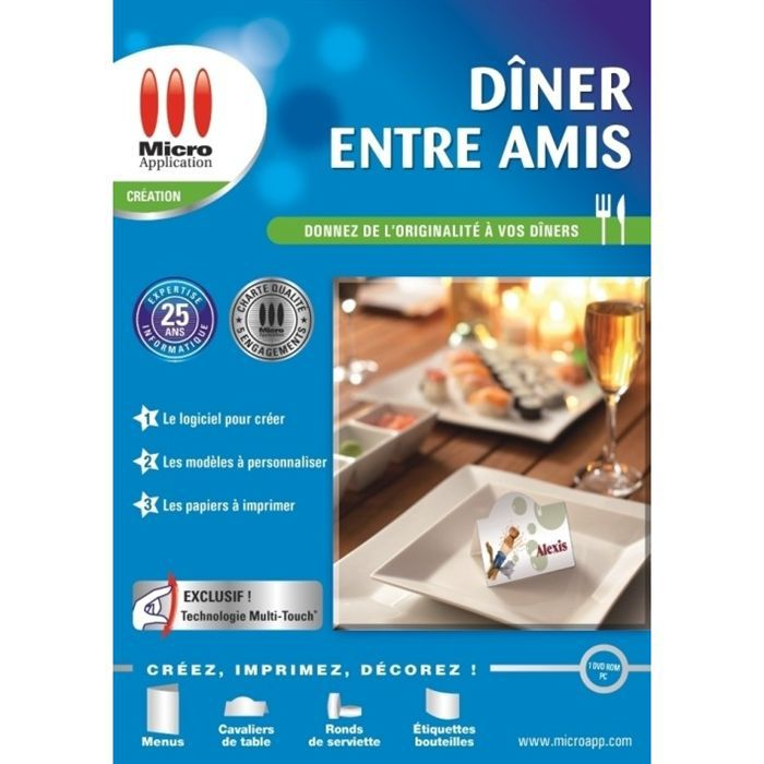 Diner entre amis pc dvd rom prix pas cher cdiscount for Idee diner entre amis