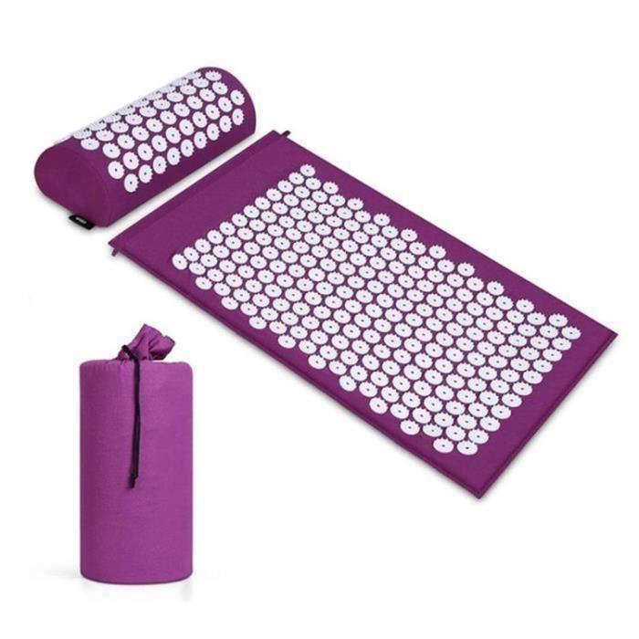 Tapis Acupression - Tapis de Massage - Massage Tapis - Tapis de Detente, Yoga Tapis ,Violet