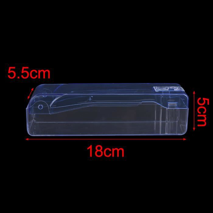 Étui en plastique Portable pour lunettes de natation étui en plastique Transparent pour lunettes de bain - Modèle: K1 - TEYYJA01815