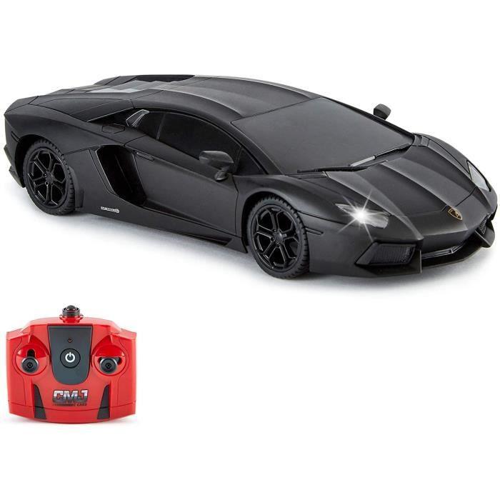 Voiture telecommandee CMJ RC Cars Teacuteleacutecommande Supercar Gamme Lumiegraveres LED 24GHZ Course 10 Ensemble Lamborghini 145