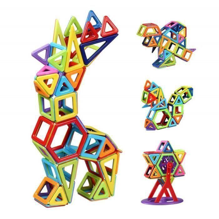 Bloc de Construction Magnétique Enfant 108 Pièces, Mini Jeux Construction Aimanté Jouet Educatif et Créatif, Cadeau Anniversa E34151