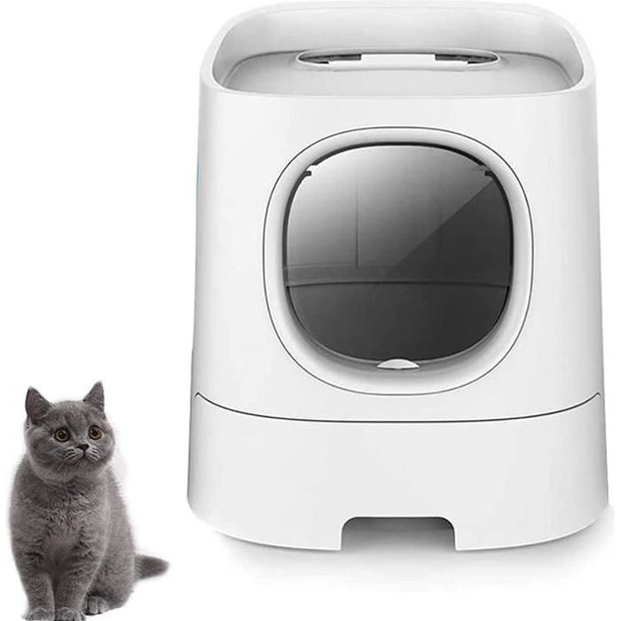 bac à litière super auto-nettoyant pour chats domestiques, toilette désodorisante pour chat entièrement fermée et résistante 212