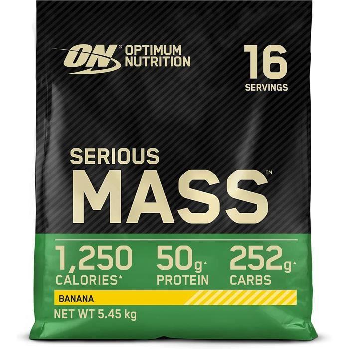 Optimum Nutrition Serious Mass, Mass Gainer avec Whey, Proteines Musculation Pr de Masse avec Vitamines, Creatine et Glutamine,232