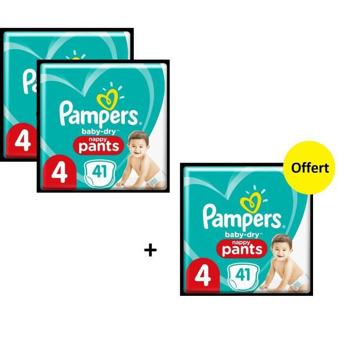 Pampers Baby Dry Pants Geant T4 X123 - Lot de 3