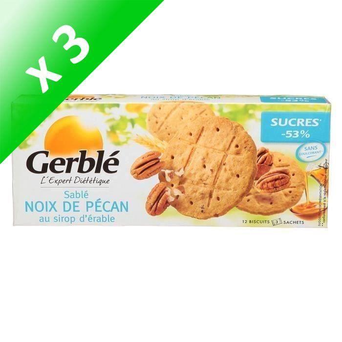 [LOT DE 3] GERBLE Biscuits Noix de Pécan au Sirop d'Erable - 132 g