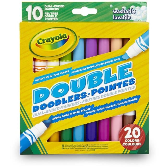 Crayola 10 Feutres double pointes - Loisirs créatifs