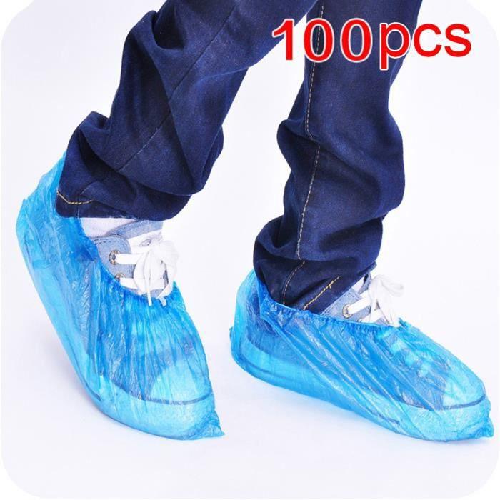 100pcs couvre-chaussures et bottes jetables chaussons de protection pour pieds