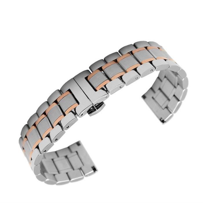 1 Pc bracelets de montre en acier inoxydable bracelet de pratique en pour hommes de élégant pour BRACELET DE MONTRE VENDU SEUL