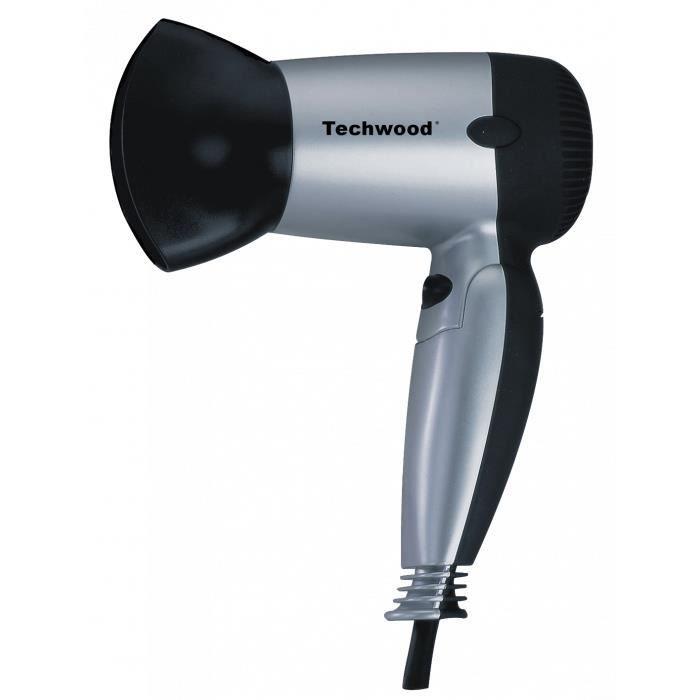 Techwood Sèche Cheveux de Voyage Gris TSC-1207