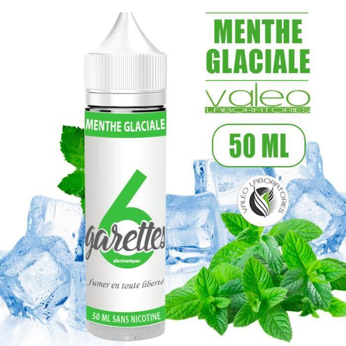E-LIQUIDE MENTHE GLACIALE 50ML EN 0MG DE NICOTINE