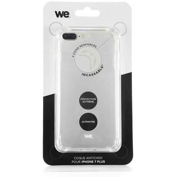 WE Coque pour iPhone 7 Plus Anti-choc Transparente