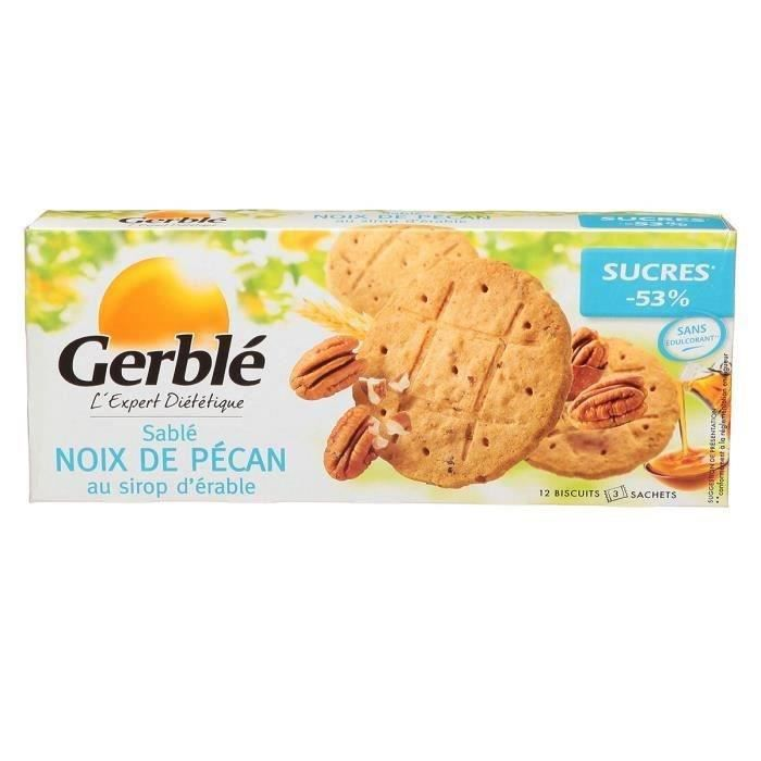 GERBLE Biscuits Noix de Pécan au Sirop d'Erable - 132 g
