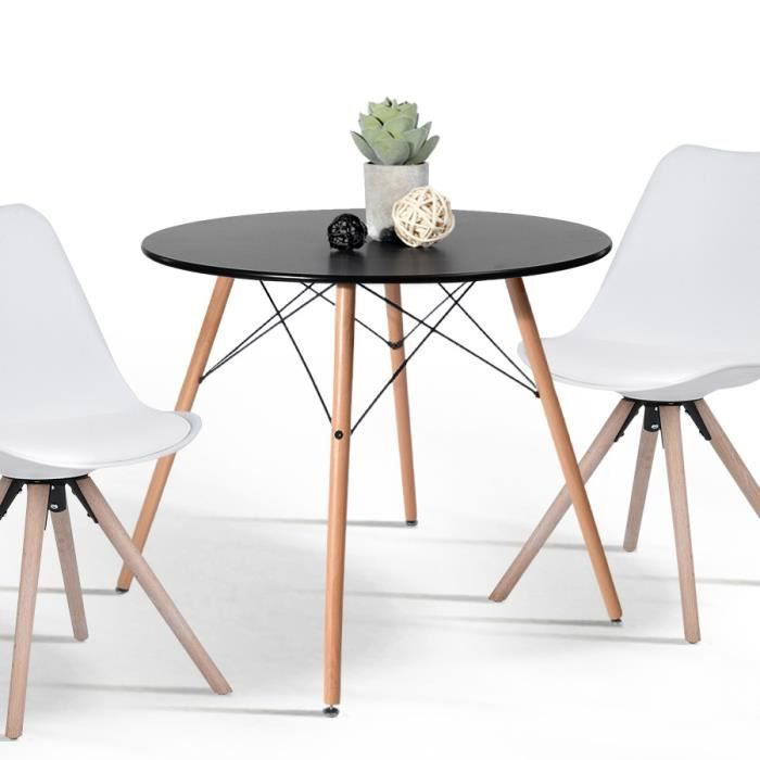 TABLE À MANGER SEULE Table Salle à Manger Ronde 2 à 4 Personnes - Pieds