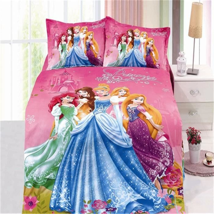 lm parure de lit enfant disney princess 100 coton. Black Bedroom Furniture Sets. Home Design Ideas