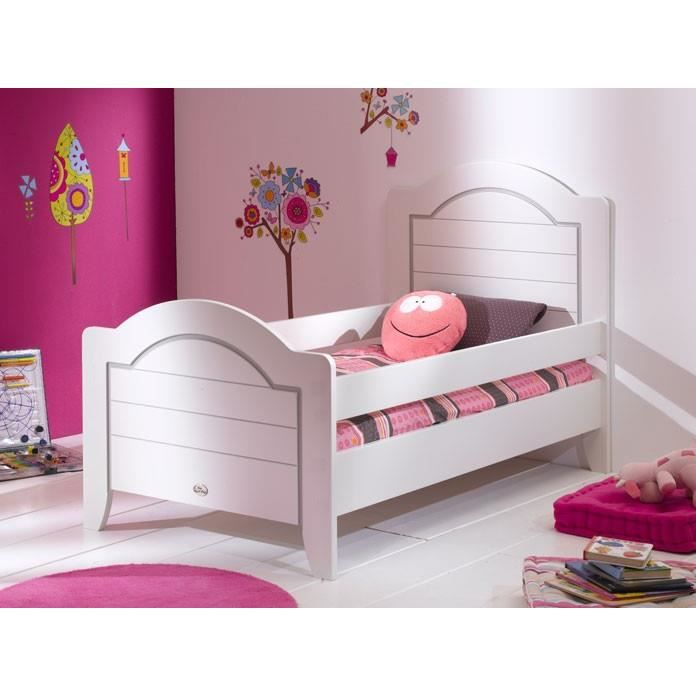 lit enfant 90 x 190 doly blanc achat vente lit complet. Black Bedroom Furniture Sets. Home Design Ideas