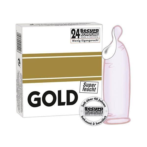 PRÉSERVATIF Préservatifs gold super-wet