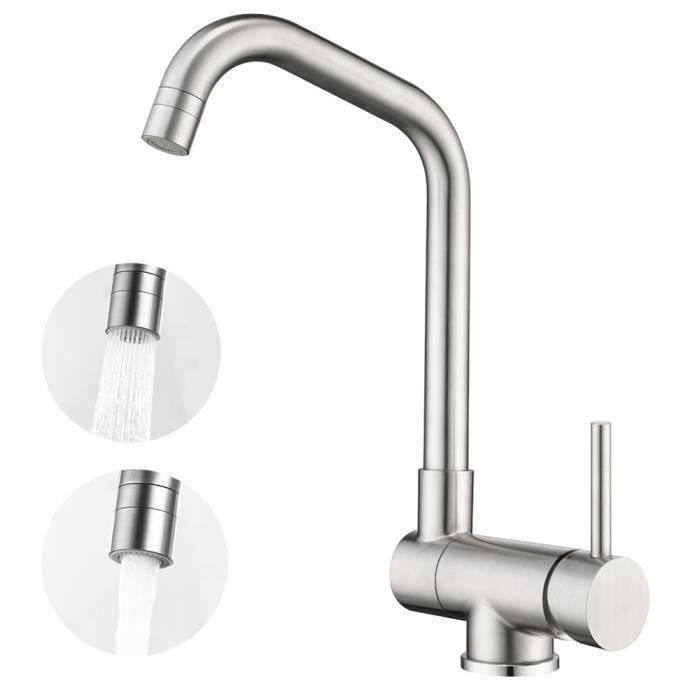 Mitigeur robinet orientable et pivotant à 360° économiseur d'eau rotatif