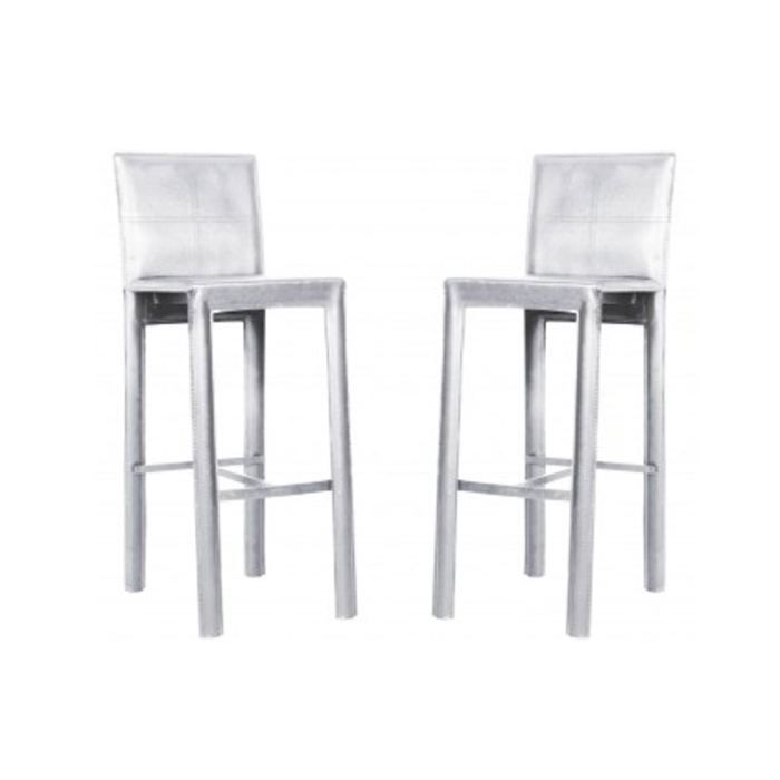 Lot de 4 tabouret de bar blanc loft pu achat vente tabouret de bar sold - Lot 4 tabouret de bar ...