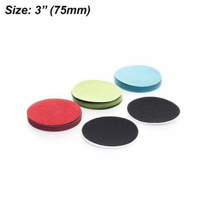 """polissage verre métal pierre plastique 3/"""" 75mm gp-pro feutre polissage pad set"""