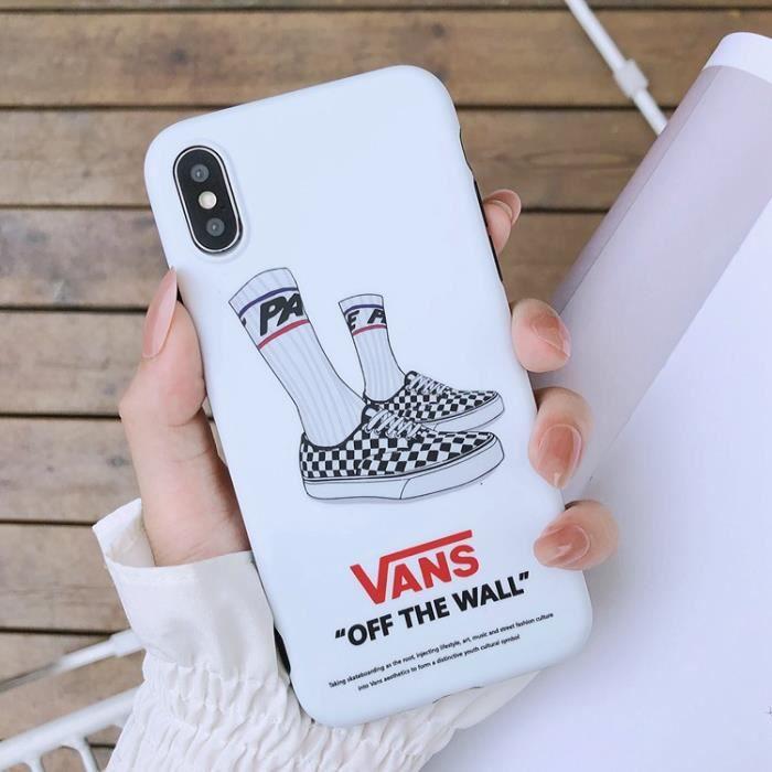 coque iphone 11 vans blanc silicone en gel tpu sou