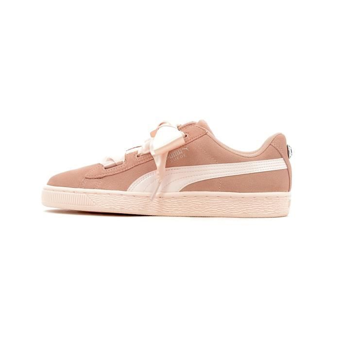 promo code fbebc a5d38 Baskets basses Puma Suede Heart Jewel Junior